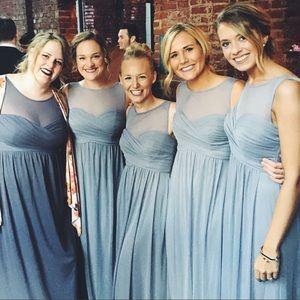 Dresses & Skirts - Maxi Grey Bridesmaids Dress 👗 SMALL - Size 4